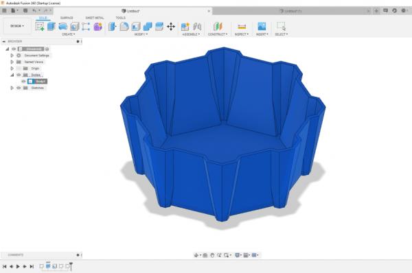 Une coupelle personnalisée modélisée avec Fusion 360