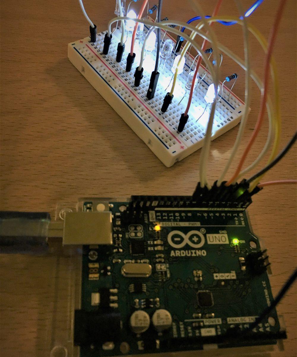 Un montage simple de LED sur une carte Arduino