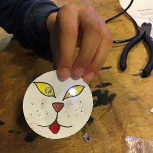 Un joli badge réalisé par nos élèves
